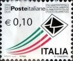 Stamps Italy -  Intercambio xxxx usd 10 cent. xxxx