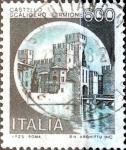 Stamps Italy -  Intercambio 0,20 usd 600 liras 1980