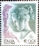 Sellos del Mundo : Europa : Italia : Intercambio 0,20 usd 1 cent. 2002