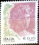 Stamps : Europe : Italy :  Intercambio m2b 0,20 usd 10 cent. 2002
