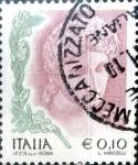 Sellos del Mundo : Europa : Italia : Intercambio 0,20 usd 10 cent. 2002