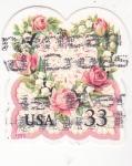 Sellos de America - Estados Unidos -  flores corazón