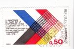 Stamps France -  X aniversario del tratado franco-alemán 1963-1973