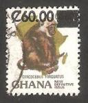 Stamps Ghana -  Mono cercocebus torquatus