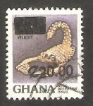 Stamps : Africa : Ghana :   983 - Joya de oro con forma de escorpión
