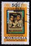 Stamps : Asia : Mongolia :  Intercosmos, vuelo espacial soviético-mongol, Gurragcha