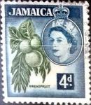 Stamps : America : Jamaica :  Intercambio cxrf 0,20 usd 4 p. 1956