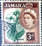 Stamps : America : Jamaica :  Intercambio cxrf 0,20 usd 3 p. 1956