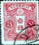 Sellos de Asia - Japón -  Intercambio 0,45 usd 3 sen 1913