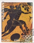 Sellos de America - Paraguay -  atletas olímpicos griegos