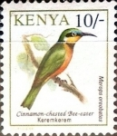 Sellos de Africa - Kenya -  Intercambio 0,65 usd 10 sh. 1993