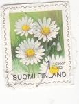 Sellos del Mundo : Europa : Finlandia : flores- margaritas