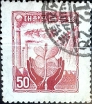 Stamps : Asia : South_Korea :  Intercambio 0,40 usd 50 h. 1955
