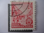 Stamps Germany -  Berlin Stalinallee
