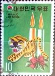 Stamps : Asia : South_Korea :  Intercambio 0,20 usd 10 w. 1973