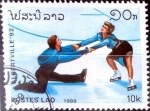 Stamps : Asia : Laos :  Intercambio nf2b 0,25 usd 10 k. 1989