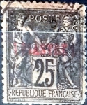 Stamps : Europe : France :  Intercambio 0,95 usd 1 piastra 1886