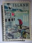 Stamps : Europe : Iceland :  Industria Pesquera.