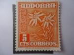 Sellos de Europa - Andorra -  Andorra- Administración Española - Edelweis
