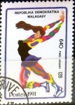 Stamps : Africa : Madagascar :  Intercambio 0,40 usd 640 francos 1991