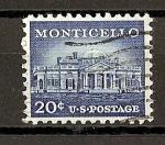 Sellos de America - Estados Unidos -  Serie Basica./ Monticello.