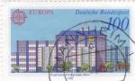 Sellos de Europa - Alemania -  EUROPA CEPT- ilustracion edificios