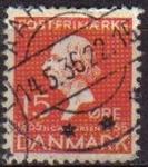 Stamps Denmark -  DINAMARCA 1935 Scott 249 Sello Hans Christian Andersen usado