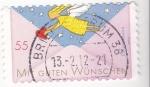 Stamps Germany -  sobre con dibujo infantil