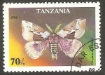 Sellos de Africa - Tanzania -  Mariposa