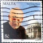 Stamps : Europe : Malta :  Intercambio 1,00 usd 8 cent. 2007