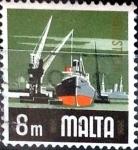 Stamps : Europe : Malta :  Intercambio 0,20 usd 8 miles.  1973