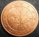monedas de Europa - Alemania -  2012 (Reverso)