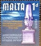 Stamps : Europe : Malta :  Intercambio 0,20 usd 1 p. 1965