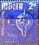 Stamps : Europe : Malta :  Intercambio 0,20 usd 2 p. 1965