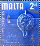 Stamps : Europe : Malta :  Intercambio agm 0,20 usd 2 p. 1965