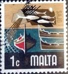 Sellos del Mundo : Europa : Malta : Intercambio 0,20 usd 1 cent. 1973