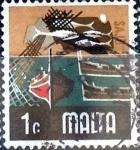 Stamps : Europe : Malta :  Intercambio 0,20 usd 1 cent. 1973