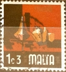 Stamps : Europe : Malta :  Intercambio 0,20 usd 1,3 cent. 1973