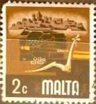 Stamps : Europe : Malta :  Intercambio 0,20 usd 2 cent. 1973
