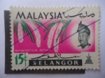 Stamps Malaysia -  Rhyncostylis Retusa - Selangor.