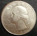 monedas de America - Estados Unidos -  1988 (Anverso)