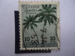 Sellos de Asia - Sri Lanka -  Coconut Tree - Postage and Revenue.