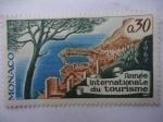 Stamps : Europe : Monaco :  Année Internationale du Tourisme.