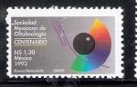 Stamps Mexico -  Sociedad Mexicana de Oftalmología, Centenario