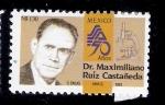 Stamps : America : Mexico :  Dr. Maximiliano Ruiz Castañeda
