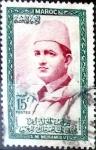 Stamps Morocco -  Intercambio 0,20 usd 15 francos  1956
