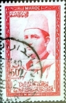 Stamps : Africa : Morocco :  Intercambio 0,20 usd 50 francos  1957