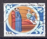 Sellos de Europa - Italia -  Escuela Médica Salernitana