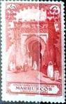 Stamps Morocco -  Intercambio jxi 0,25 usd 5 sobre 25 cent. 1936