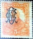 Sellos de America - México -  Intercambio 0,35 usd 5 cent. 1915
